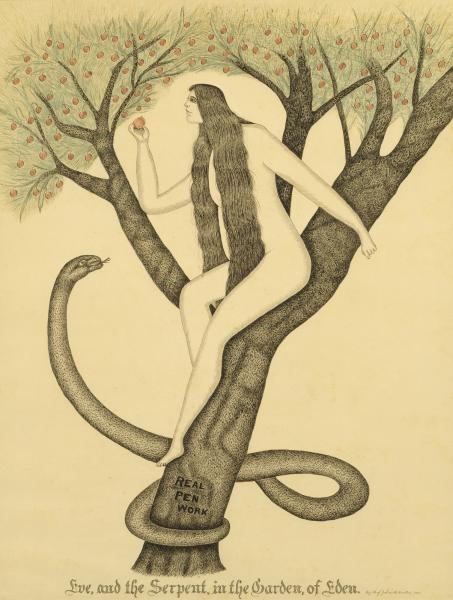 Eve and the serpent in the garden of eden real pen - Who was the serpent in the garden of eden ...