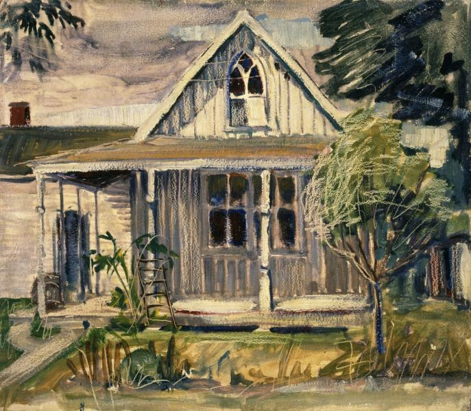 Sketch For House In American Gothic