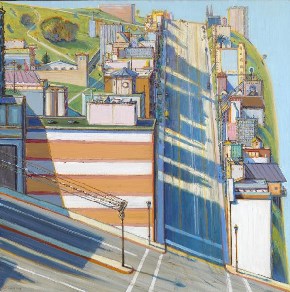 Wayne Thiebaud, San Francisco West Side Ridge, 2001, oil on canvas,  Smithsonian American Art Museum, Gift of Sam Rose and Julie Walters,  2004.30.5 - San Francisco West Side Ridge Smithsonian American Art Museum