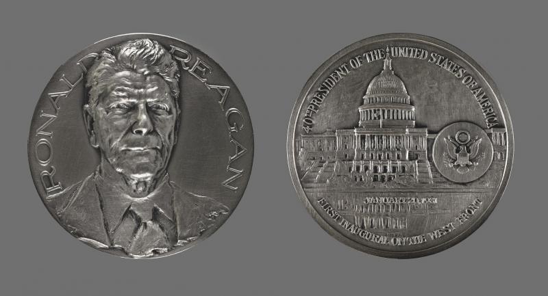 Ronald Reagan Inauguration Medal 1981