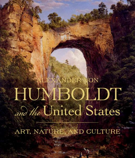 A book cover with a natural bridge painting.