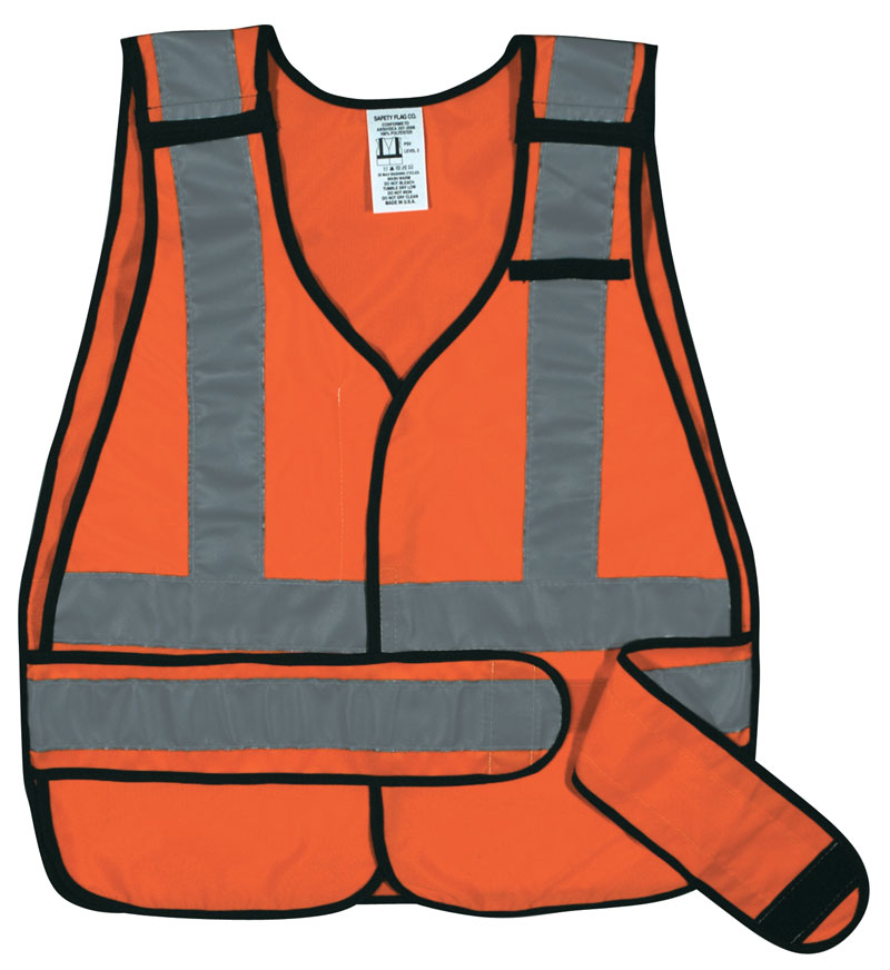 Public Safety Vest with Silver Stripes