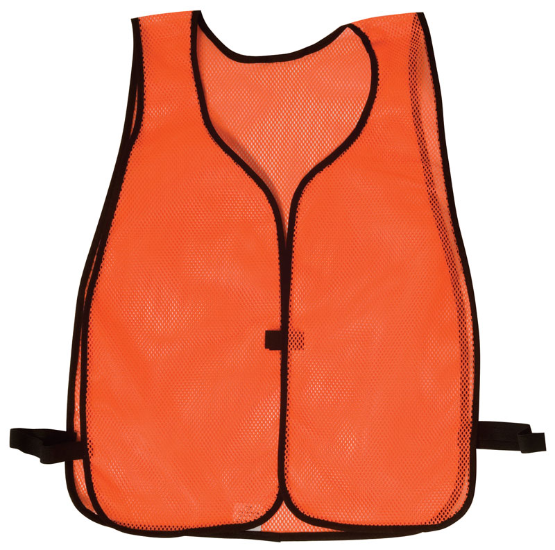 Orange Lightweight Mesh Vest With Black Trim