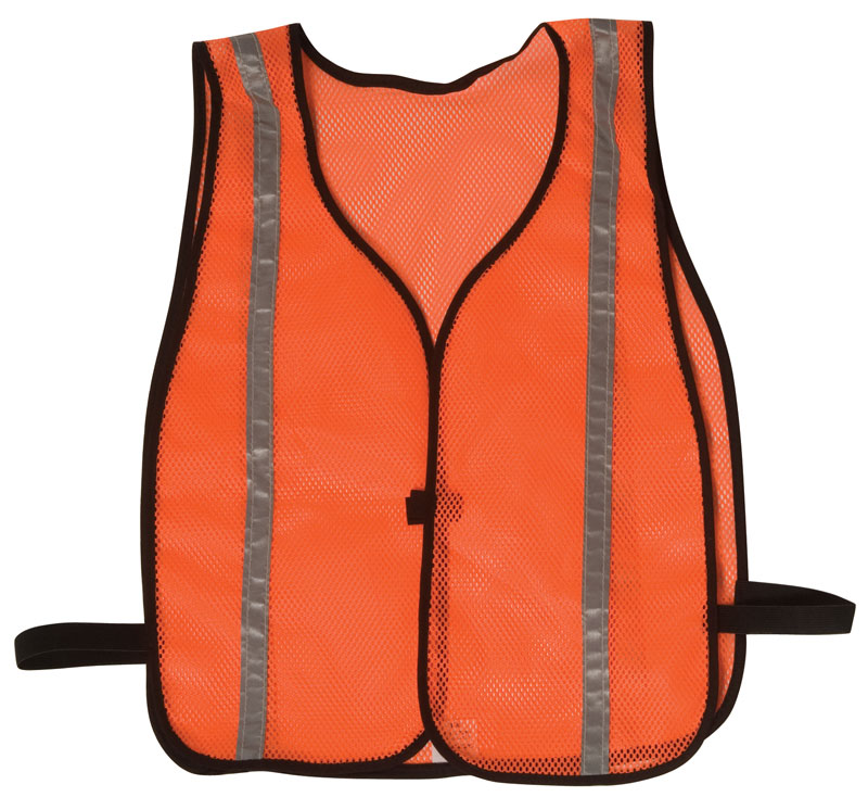 Vests - Economy Style 100% Polyester Mesh w/ Reflective Silver