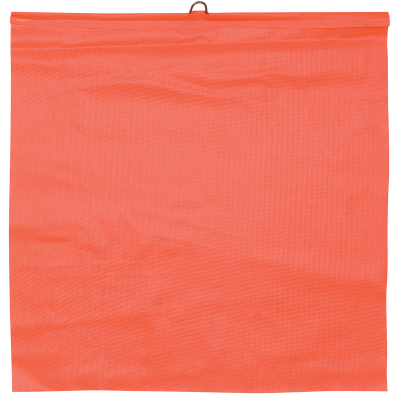 Orange Tailgate Flag With Metal Hoop On The Top