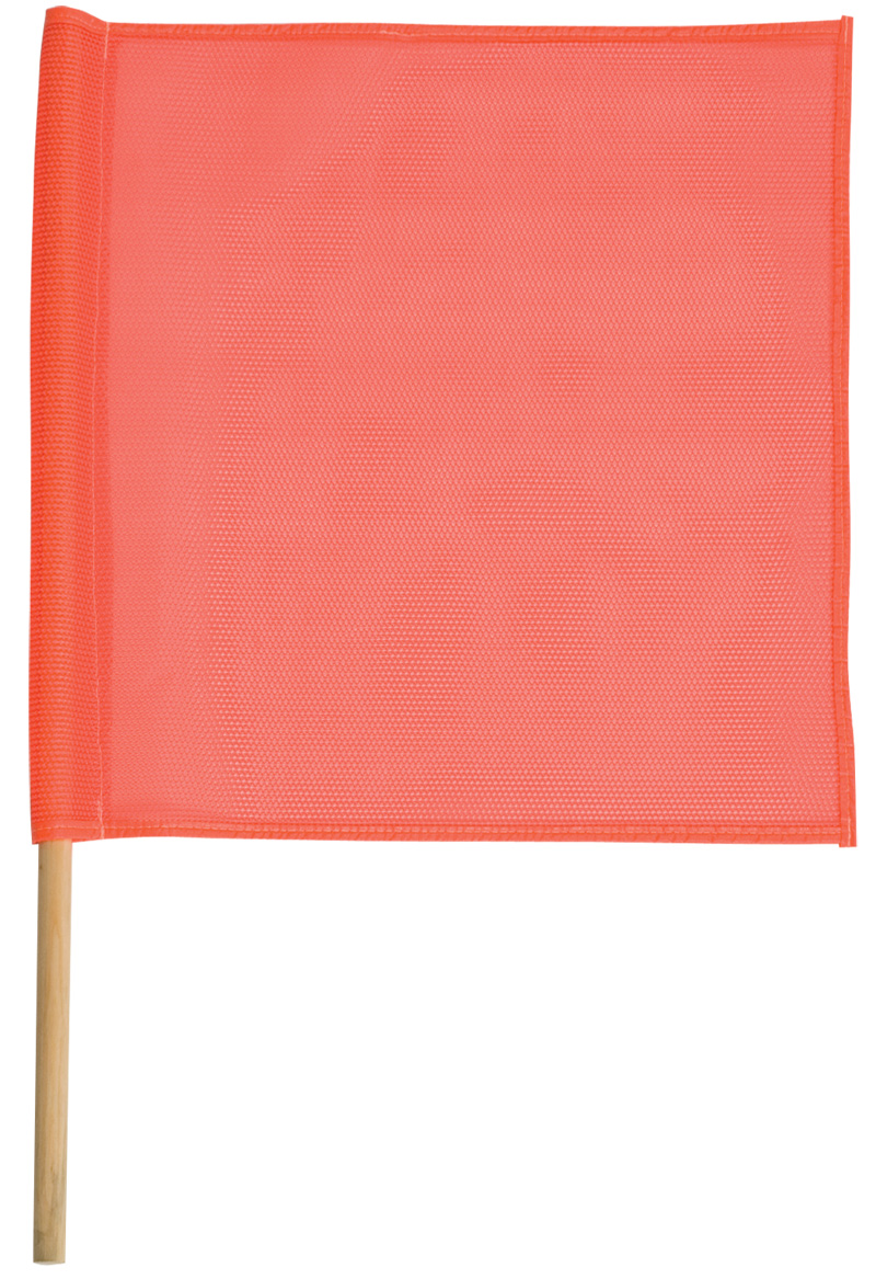Orange Mesh Heavy Duty Flags With Wooden Dowel