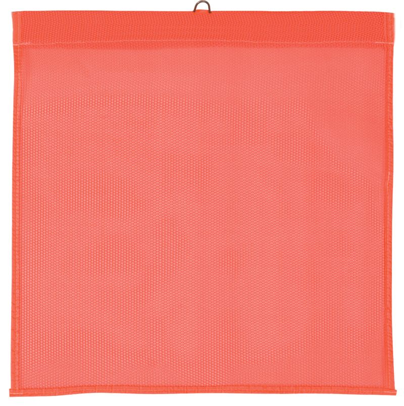 Orange Mesh Wire Flag With Hoop Ontop For Tailgating