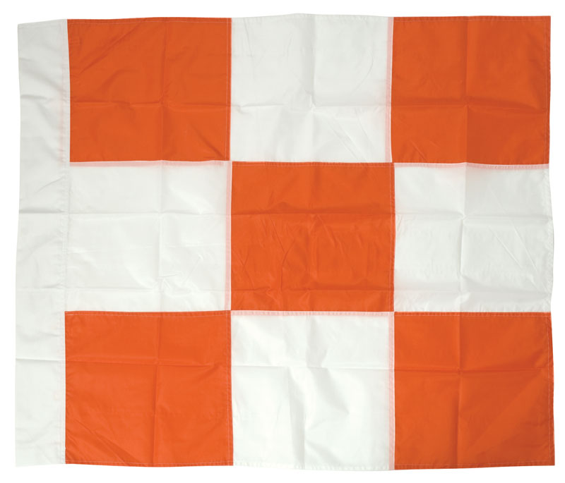 Orange and White Checkered Airport Flag