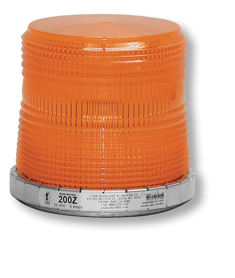 Orange Strobe Lights For Trucks With Silver Base