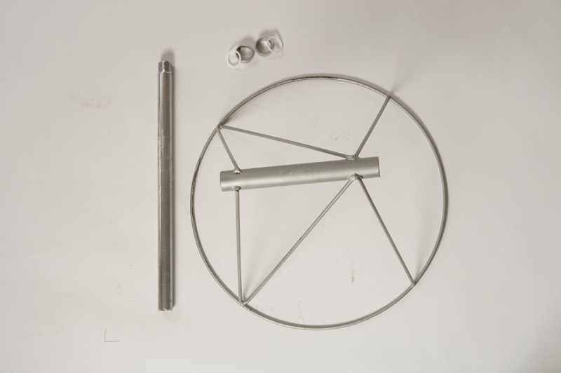 Wheel-Shaped Industrial Windsocks Hardware With Metal Pieces Placed On The Side And On Top