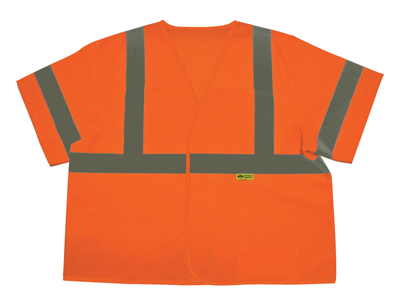 Orange Hi Vis Vest With Silver Reflective Stripes