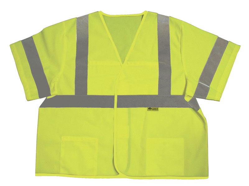 Class 3 Safety Vest With Silver Stripes