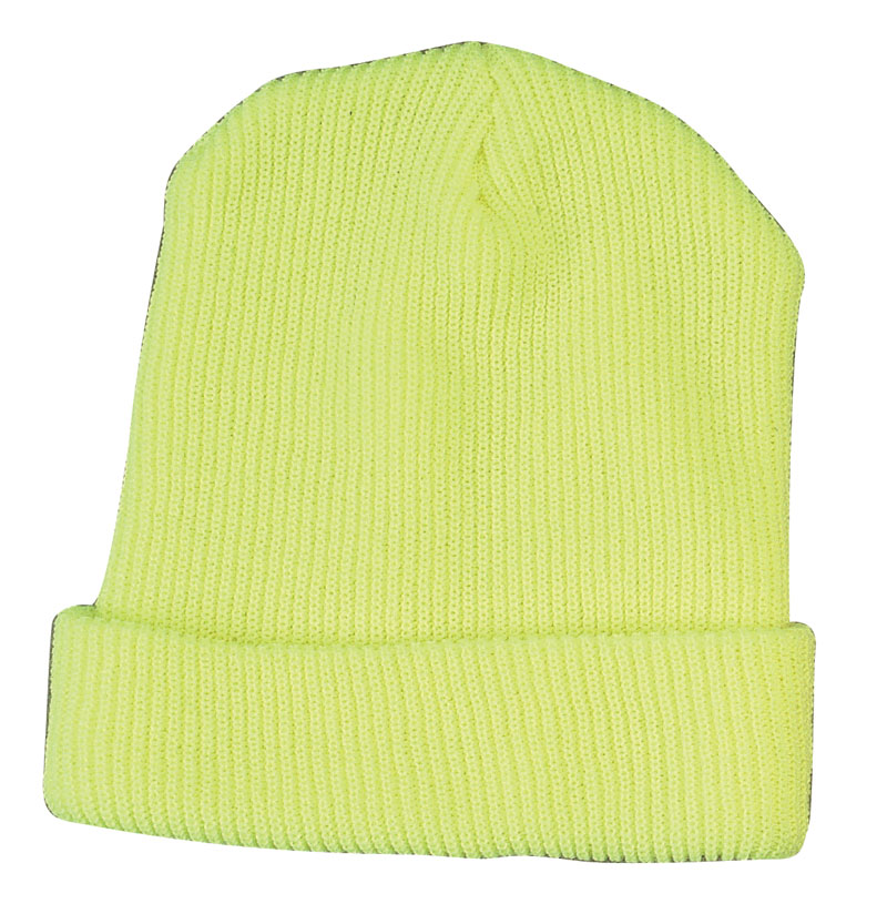 Bright Yellow Fluorescent Hats Or Beanie