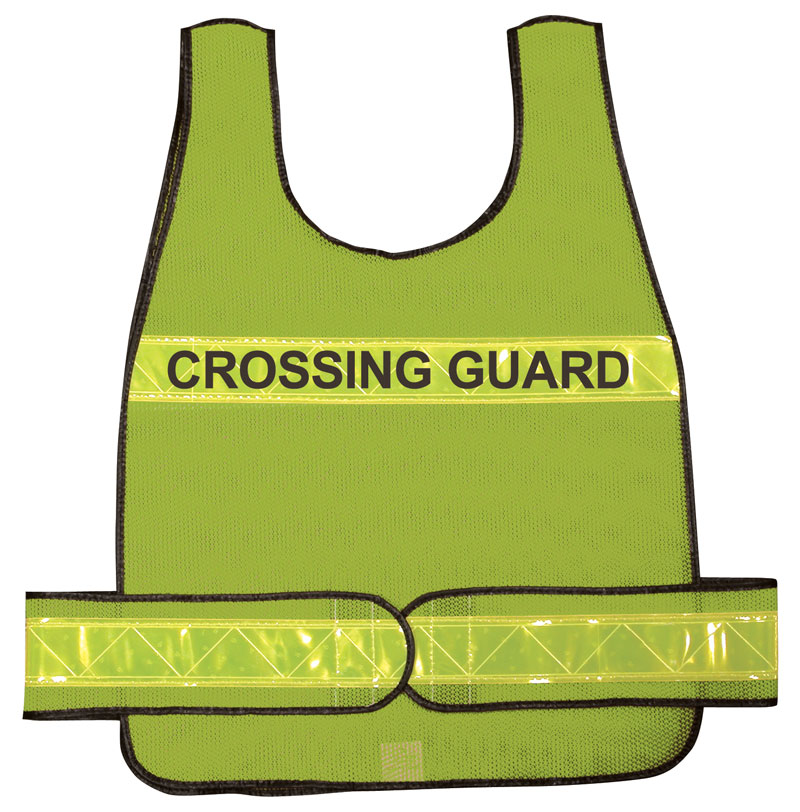 Yellow Reflective Overhead Crossing Guard Traffic Vest
