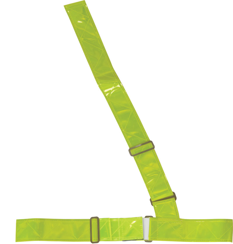 Yellow Reflective Safety Belt With Buckles