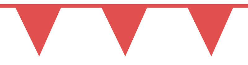 Red Triangle Pennant Barricade Safety Tape