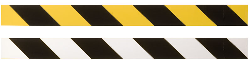 Yellow and Black Striping Tape On Top and White and Black Striping Tape Below