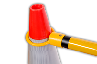 Yellow Cone Bar Cinching Traffic Cone From The Top