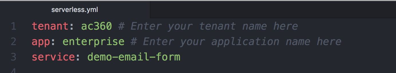 App and Tenant