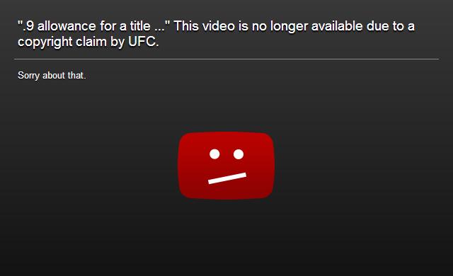 Dmca: UFC's DMCA Copyright Claim On St. Pierre Vs. Diaz 'decimal