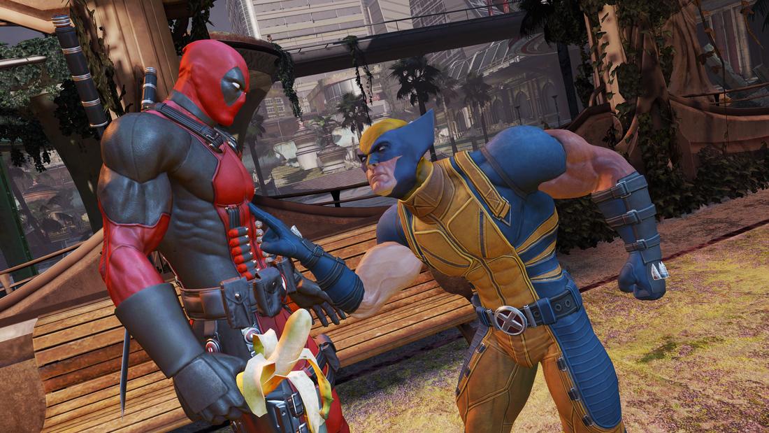 Dp Withwolvie Deadpool Back Blazing