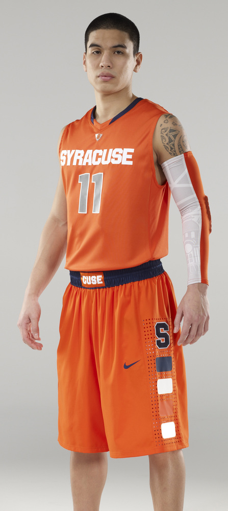 First Look Syracuse S New Basketball Uniforms Troy Nunes Is An