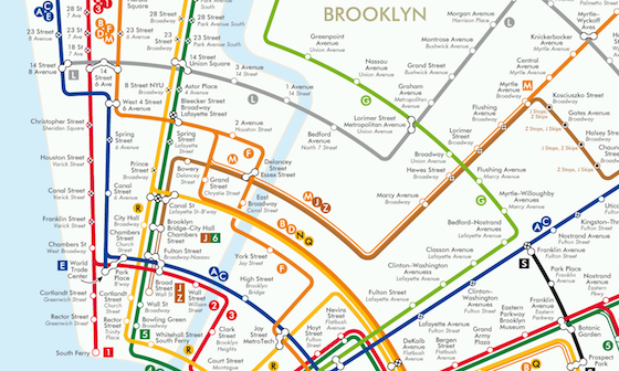 New Your Subway Map.Circular Subway Map Reimagines New York As A Colorful Geometric
