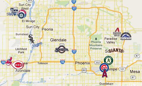 Mlb Spring Training Locations Florida Map.Spring Training Map Compressportnederland