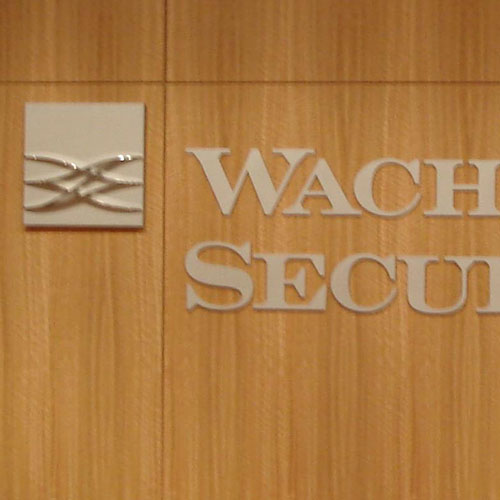 Wachovia Securities signage