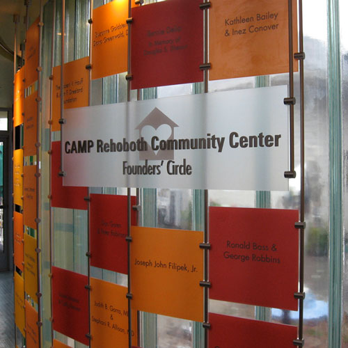 Camp Rehoboth Community Center signage
