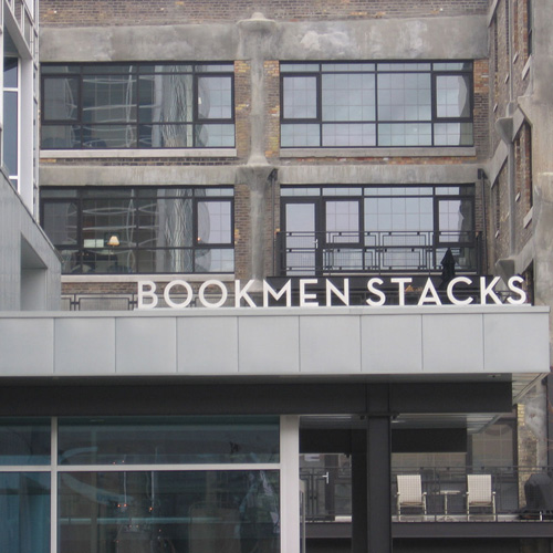 Bookman Stacks signage