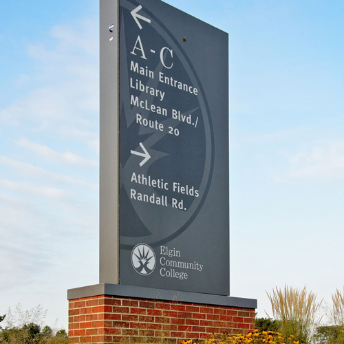 Elgin Community College signage
