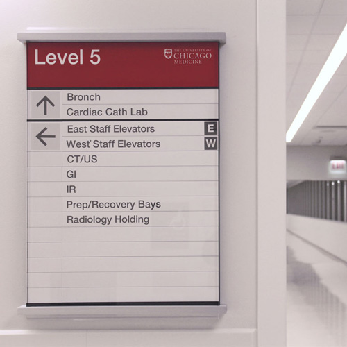 University of Chicago Medical Center signage