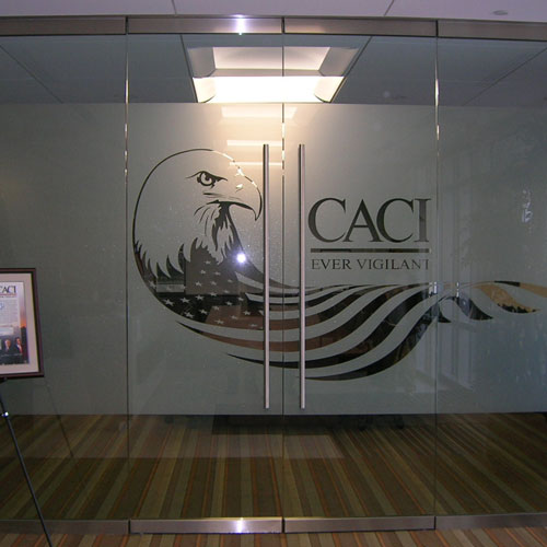 Custom Glass Film signage