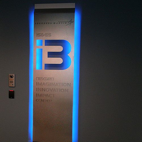 Interior Illuminated Case Study signage