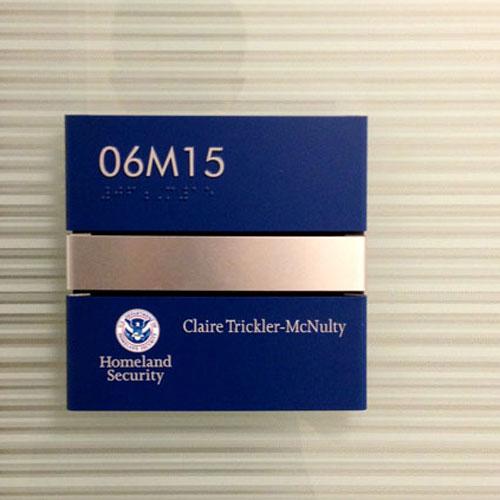 Interior ADA Case Study signage