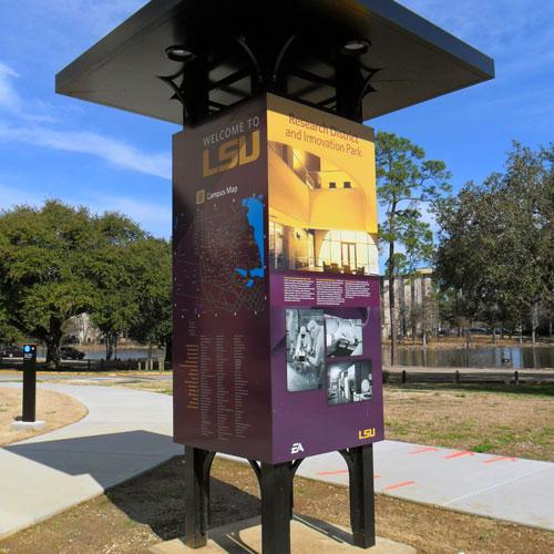 Louisiana State University Wayfinding signage