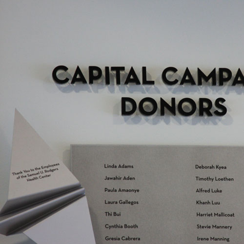 Donor Recognition signage