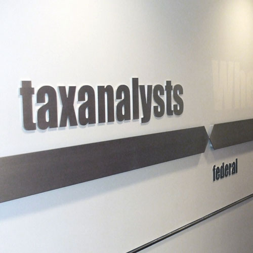 Tax Analysts signage
