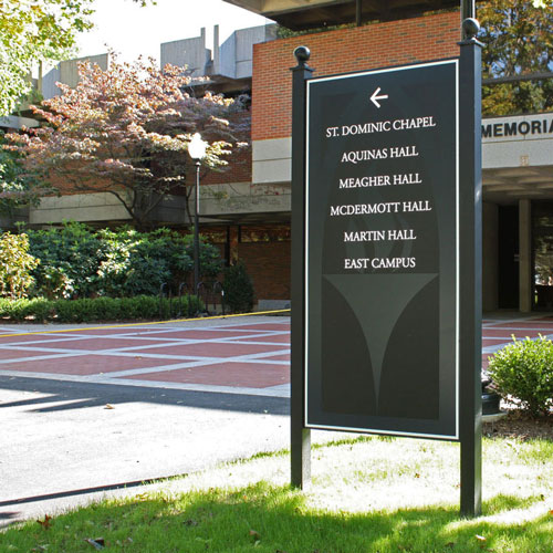 Providence College signage