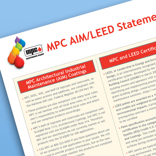 MPC AIM / LEED signage