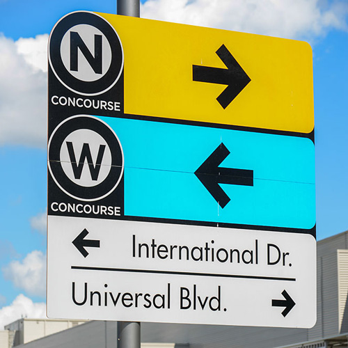 Orange County Convention Center Exterior Wayfinding signage