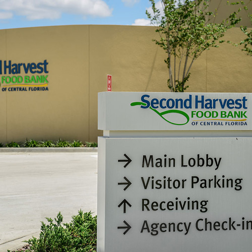 Second Harvest Food Bank of Central Florida signage