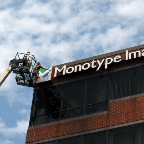 Monotype Imaging, Inc. signage
