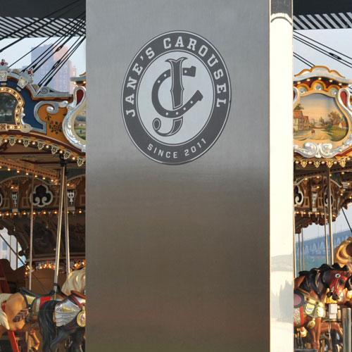 Jane's Carousel signage