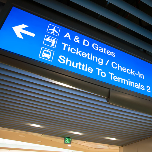 Phoenix Sky Train / East Economy Lot - Sky Harbor Int'l Airport signage