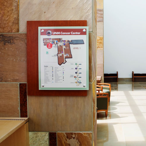 Interior signage