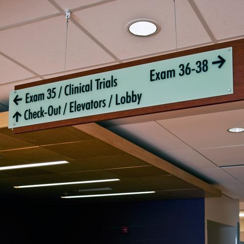 Overhead signage