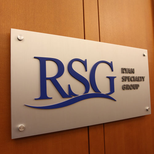 RSG Ryan Specialty Group signage