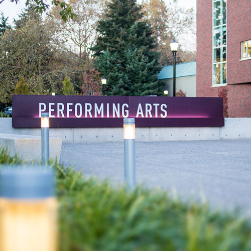 Reed College Performing Arts signage